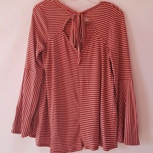 Papermoon Tops - Papermoon stitch fix striped bell sleeve knit top